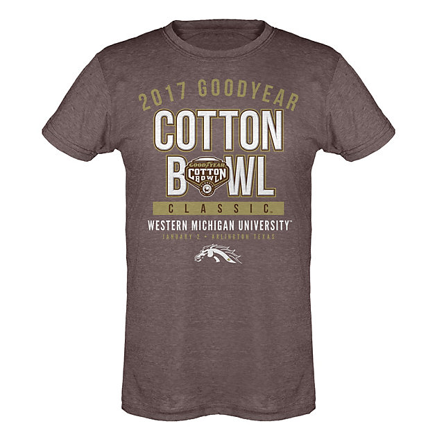 2017 Goodyear Cotton Bowl Western Michigan Womens Participant Short Sleeve Tee