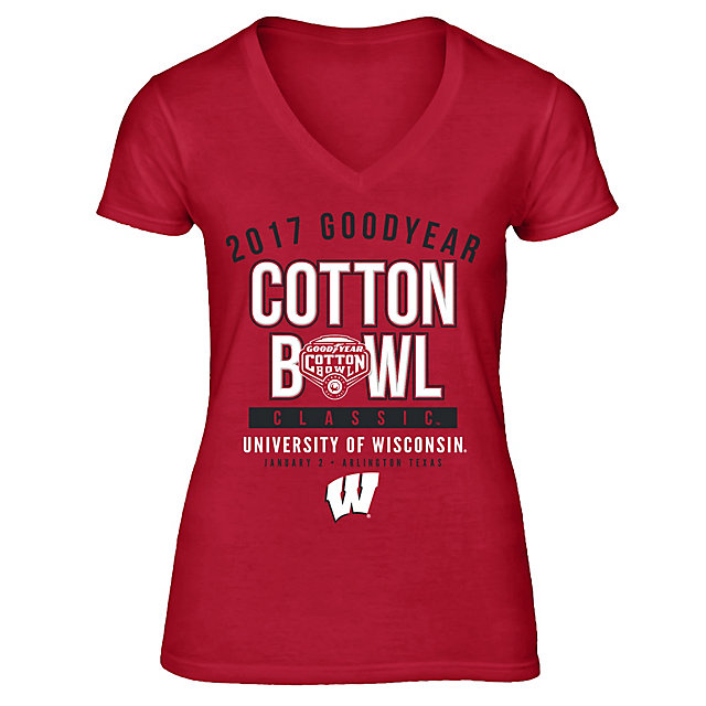 2017 Goodyear Cotton Bowl Wisconsin Womens Participant Short Sleeve Tee